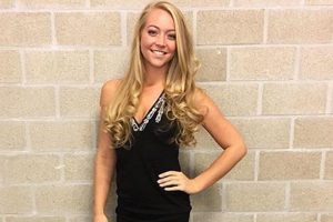 Ashley Zaat walkon girl darts pdc